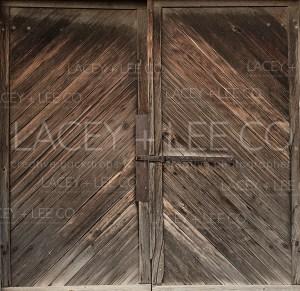 Faded Barn Doors Photo Backdrop