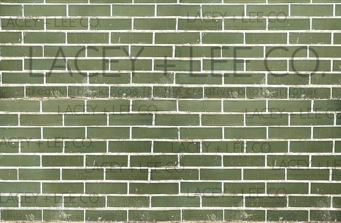 Oscar's place green brick backdrop