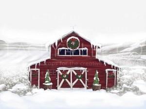 Christmas Farm Photo Backdrop
