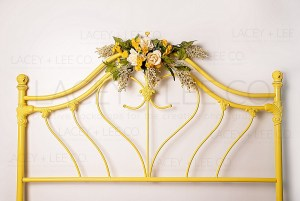 Yellow Wildflower Headboard