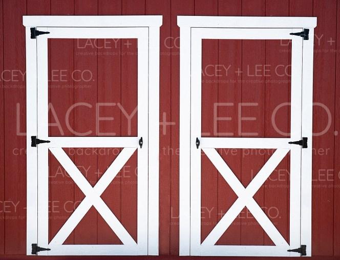 classic red barn doors
