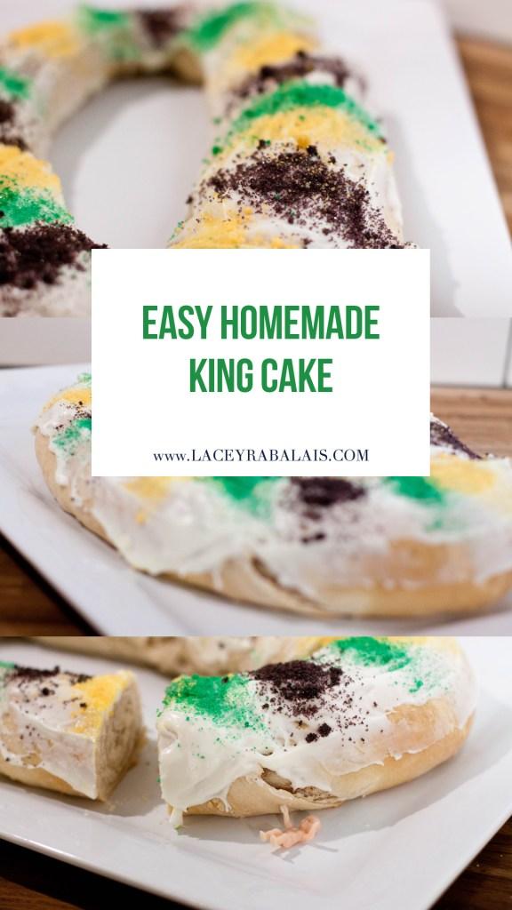 Homemade King Cake // Lacey Cooks // Pioneer Woman Cinnamon Rolls