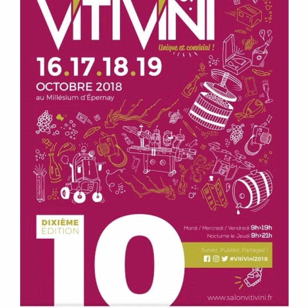 Quatre jours consacrés au au VITI VINI en Champagne.