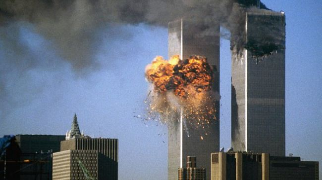 The WTC on 9/11, Photo: allenbwest.com