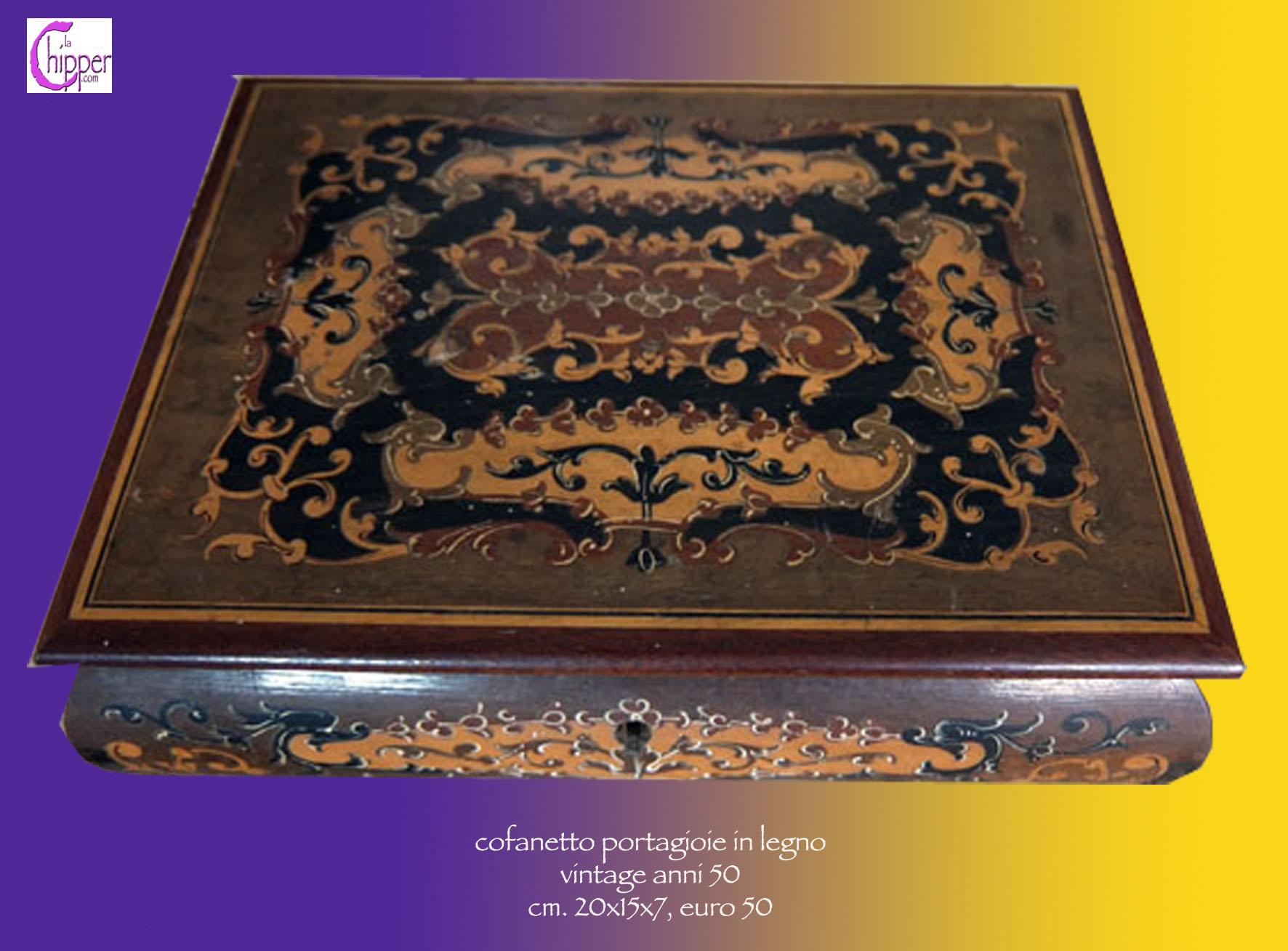 Dipingere Portagioie Di Legno : Portagioie scatola legno anni 50 lachipper.com