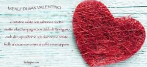 menù di san Valentino lachipper.com