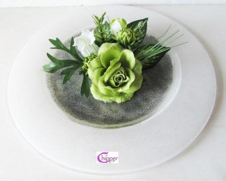 piatto centrotavola con fiori lachipper.com