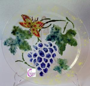piatto vetro artistico murano