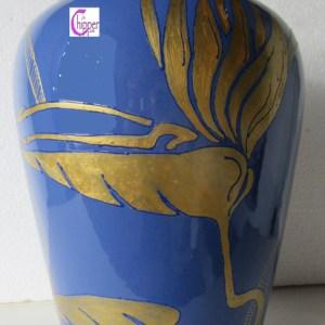 vaso di ceramica blu lachipper.com