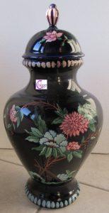 vaso ceramica blu decorato www.lachipper.com