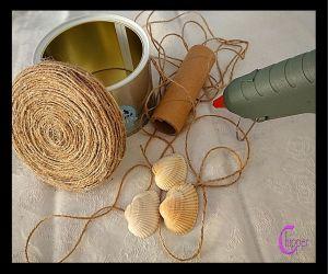 i materiali per riciclare con la corda