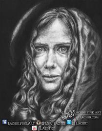 Graphite and carbon pencil portrait
