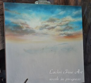 I started with the clouds