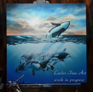 Painting in the orcas