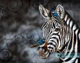 acrylic zebra painting