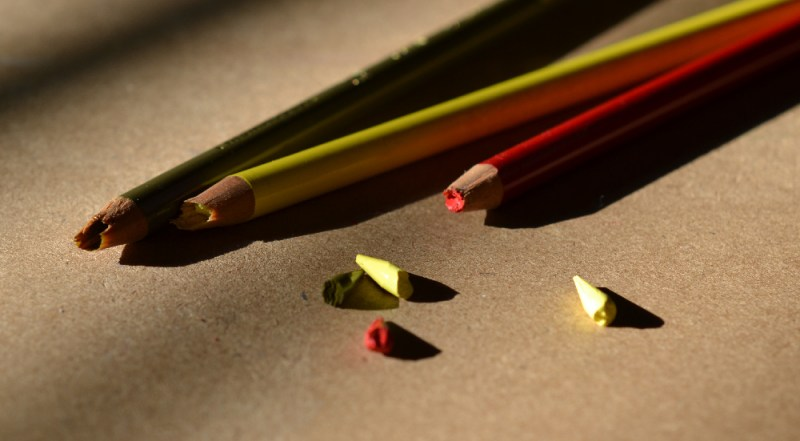 Broken Prismacolor colored pencils
