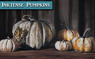 Inktense Pumpkins