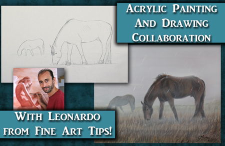 How to paint Horses in Fog and Rain