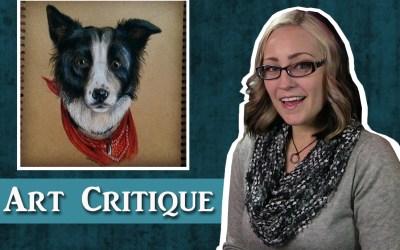 Colored Pencil Dog Portrait Critique
