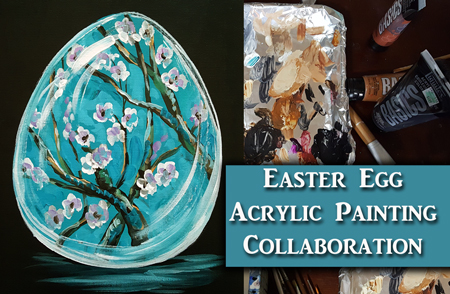 20 Minute Painting Challenge – Easter Egg