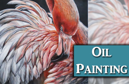 Flamingo Oil Painting Demonstration