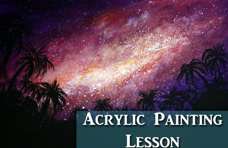 How to Paint a Galaxy in Acrylics