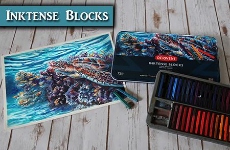 Painting the Artwork for the Derwent Inktense Blocks