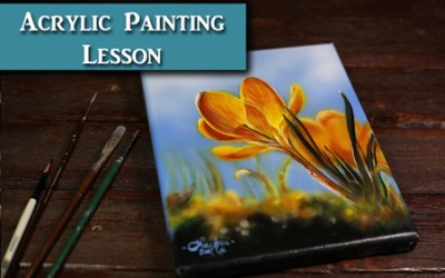 Acrylic Painting Flower Tutorial