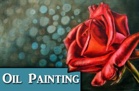 Rose oil painting tutorial