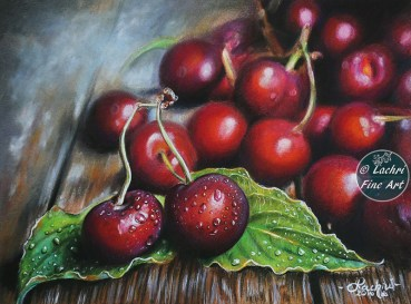 Cherries in Colored Pencil