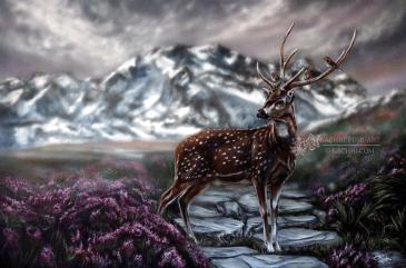 Deer Acrylic Painting