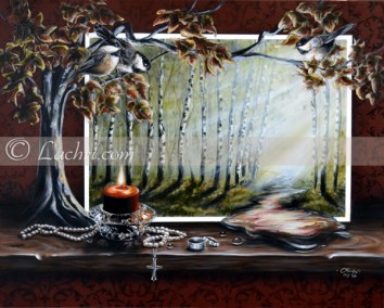 surreal oil over acrylic painting