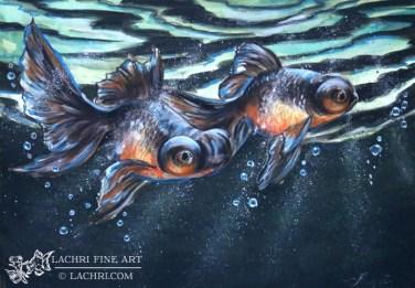 Goldfish in Derwent Inktense