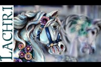Speed Painting carousel horse- Time Lapse Demo by Lachri