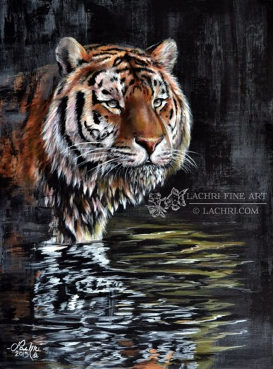 Tiger acrylic painting