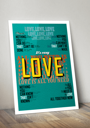 beatles love poster