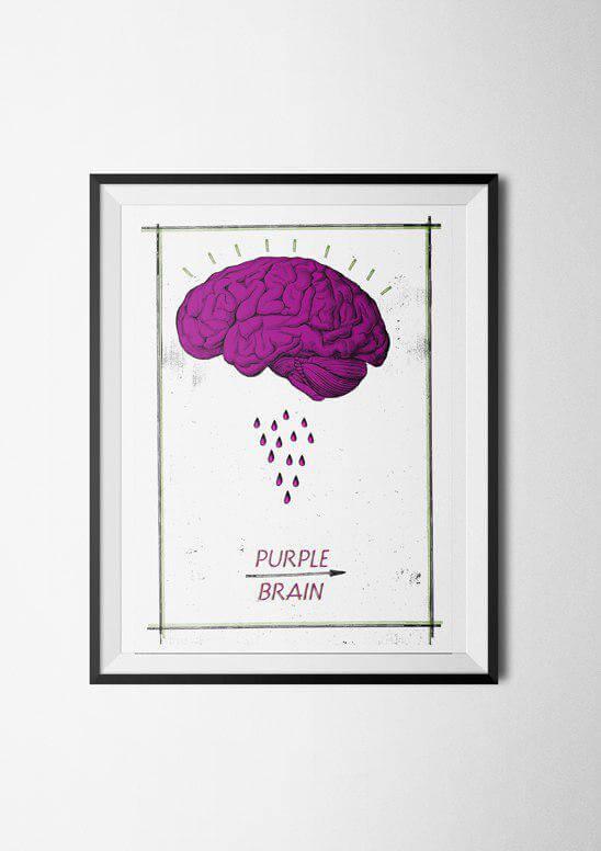 purple brain poster