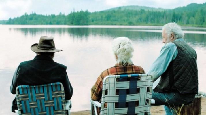 3 comédiens bord du lac