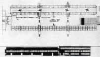 galería pública: planta y alzado