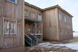 """Entrada a la """"casa finlandesa"""""""