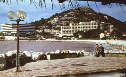 Hotel Pelegrin y Goricina en Kupari (foto de 1984)