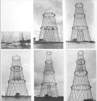 fases de construcción de la torre