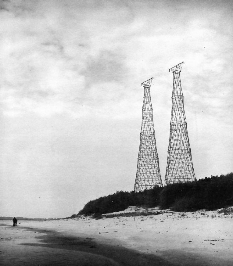 Torres de alta tensión en el río Oka 1927-1929 (foto de 1988)