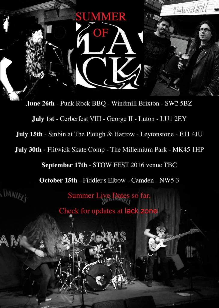 Summer of LACK gigs