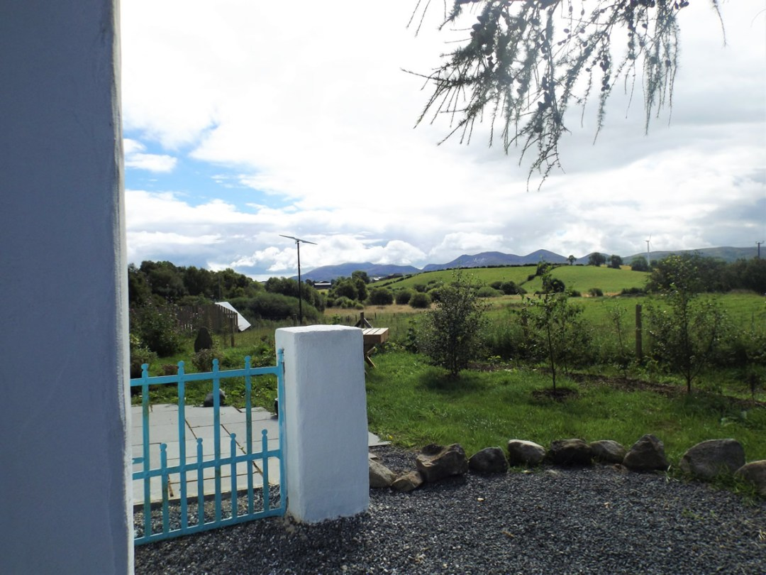 The cottage has beautiful views of the Mourne Mountains
