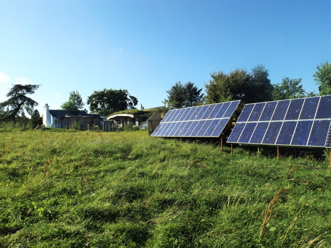 Our off grid property is powered by solar panels and a wind turbine