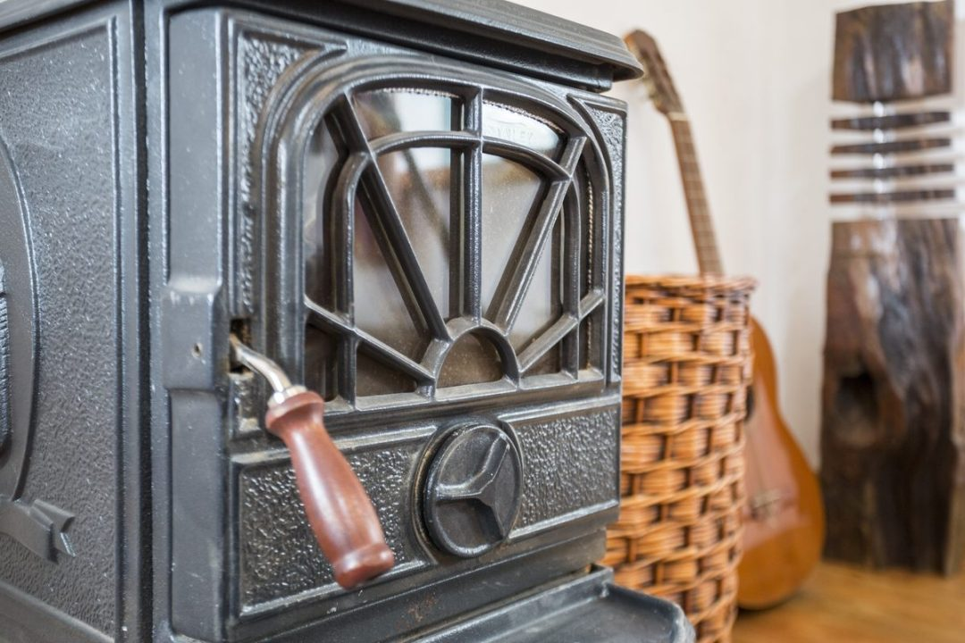 The cottage is heated by a woodburning stove, perfect for the good life experience