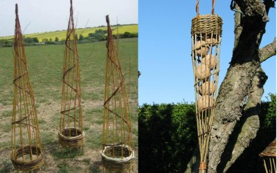 Willow garden structures – 8 April & 9 August 2017