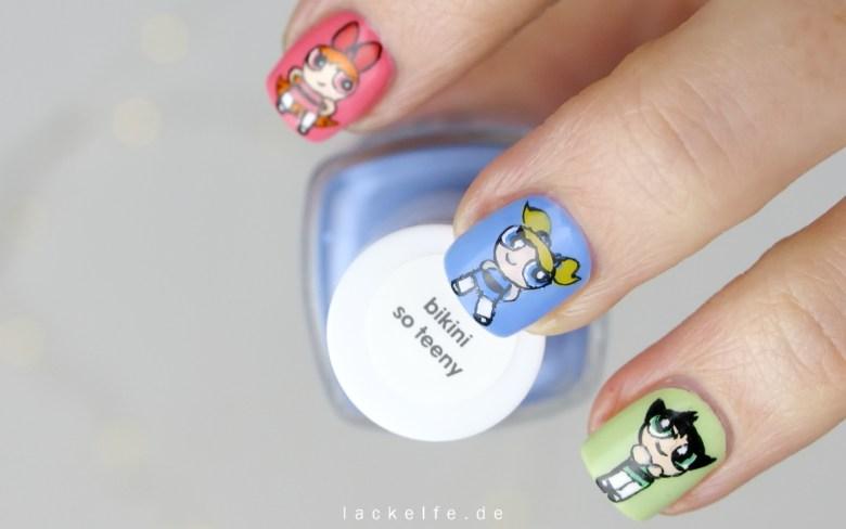 Powerpuff Girls Nailart