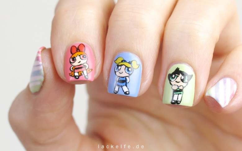 Powerpuff Girls Nailart